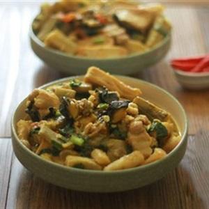Ốc nhồi nấu chuối đậu