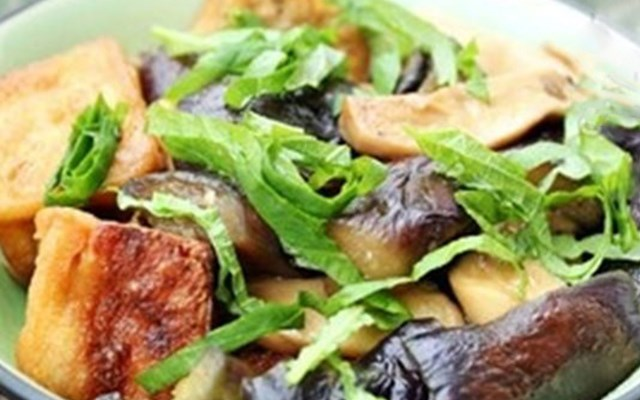 Cách làm đậu hũ kho cà tím ngon