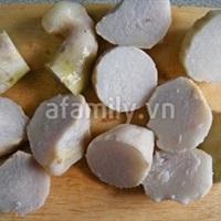 Ngọt thơm canh khoai sọ nấu tôm khô