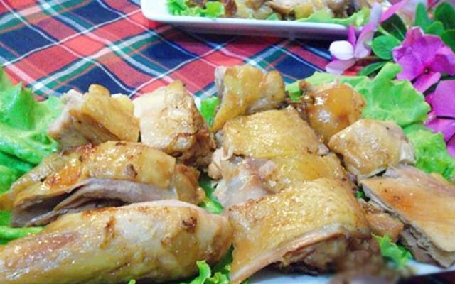 Cách làm gà om nướng tương