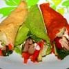 Colourful Wrap với thịt nướng và rau