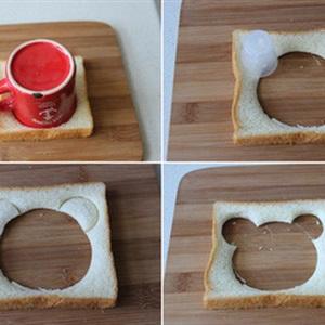 Bánh mì sandwich hình đầu gấu