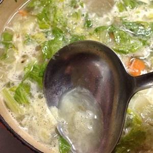 Súp gà rau củ giản đơn