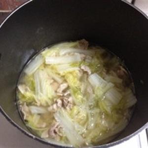 Súp kem sữa với bắp cải thịt xông khói