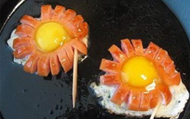 Как сделать красиво яичницу