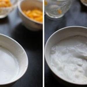 Xoài hấp trứng sữa tráng miệng tuyệt vời