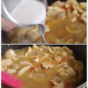 Lạ miệng món mỳ gà nấu nước dừa