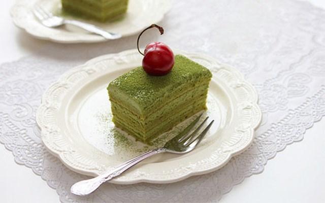 Cách làm bánh kem tươi trà xanh