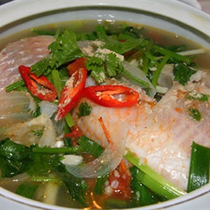Canh cá diêu hồng nấu ngót