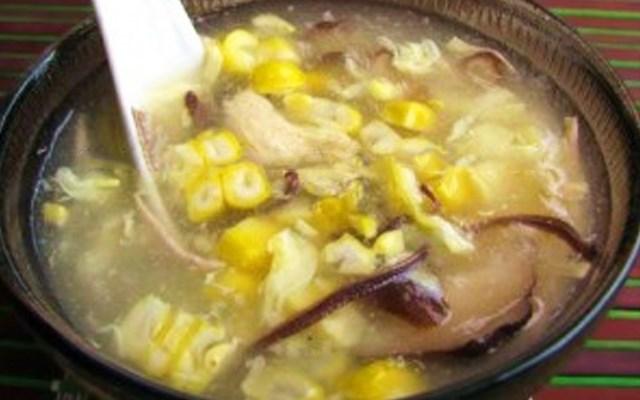 Cách nấu súp gà nấu bắp non