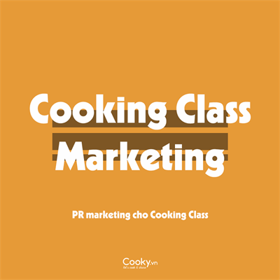 Cooking Class Marketing