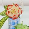 Khéo tay tỉa hoa hồng từ trái đu đủ