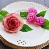 Tỉa hoa hồng siêu xinh bắt mắt bằng củ cải vỏ trắng ruột hồng