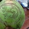 Nghệ thuật khắc chữ lên đu đủ, dừa, xoài ngày Tết