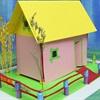 Làm mô hình nhà bằng giấy tặng nàng 14/2 để thay lời muốn nói