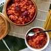 Cách nấu xôi gấc bằng xửng hấp và lò vi sóng đỏ đẹp đều màu nhìn là muốn ăn ngay
