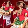 Hoa Hậu H'Hen Niê Diện Quốc Phục Bánh Mì Quảng Bá Ẩm Thực Đường Phố Việt Hoa Hậu Hoàn Vũ 2018