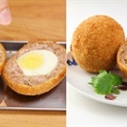Hướng dẫn làm thịt bọc trứng chiên xù cho bé