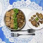 Đậu hũ kho nấm đậm đà cho hương vị ngày chay