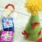 Hướng dẫn làm cây thông mini bằng len cho mùa Giáng sinh
