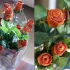 Đẹp mắt với hoa hồng nướng từ thịt ba chỉ
