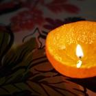 Tự chế nến thơm với vỏ cam quýt