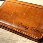 Khéo tay may ví đựng tiền lẻ hoặc name card bằng da thuộc