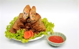 Chả giò nhân thịt nấm cho bữa cơm ngày cuối tuần