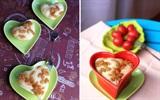 Bữa sáng với bánh bao chay nho khô hình trái tim