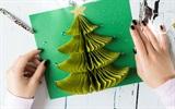 Làm thiệp Giáng sinh hình cây thông 3D chỉ dưới 100 nghìn độc, lạ cho bạn gái