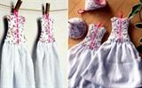 Tự may khăn lau tay hình chiếc váy