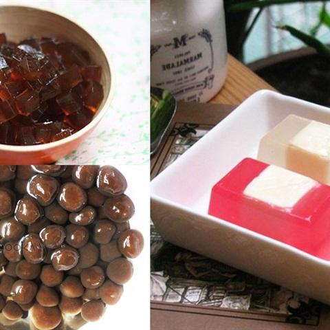 Cách làm 8 loại thạch an toàn uống cùng trà sữa ngay tại nhà