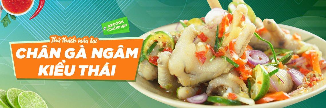 Thử thách nấu lại món Chân gà ngâm kiểu Thái