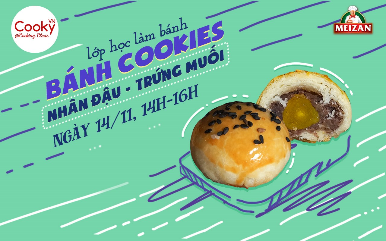 Lớp Bánh Cookies Nhân Đậu - Trứng Muối