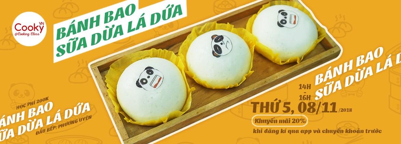 Lớp Học Làm Bánh: Bánh Bao Sữa Dừa Lá Dứa