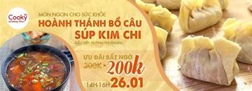 Lớp học nấu ăn: Hoành Thánh Bồ Câu Súp Kim Chi