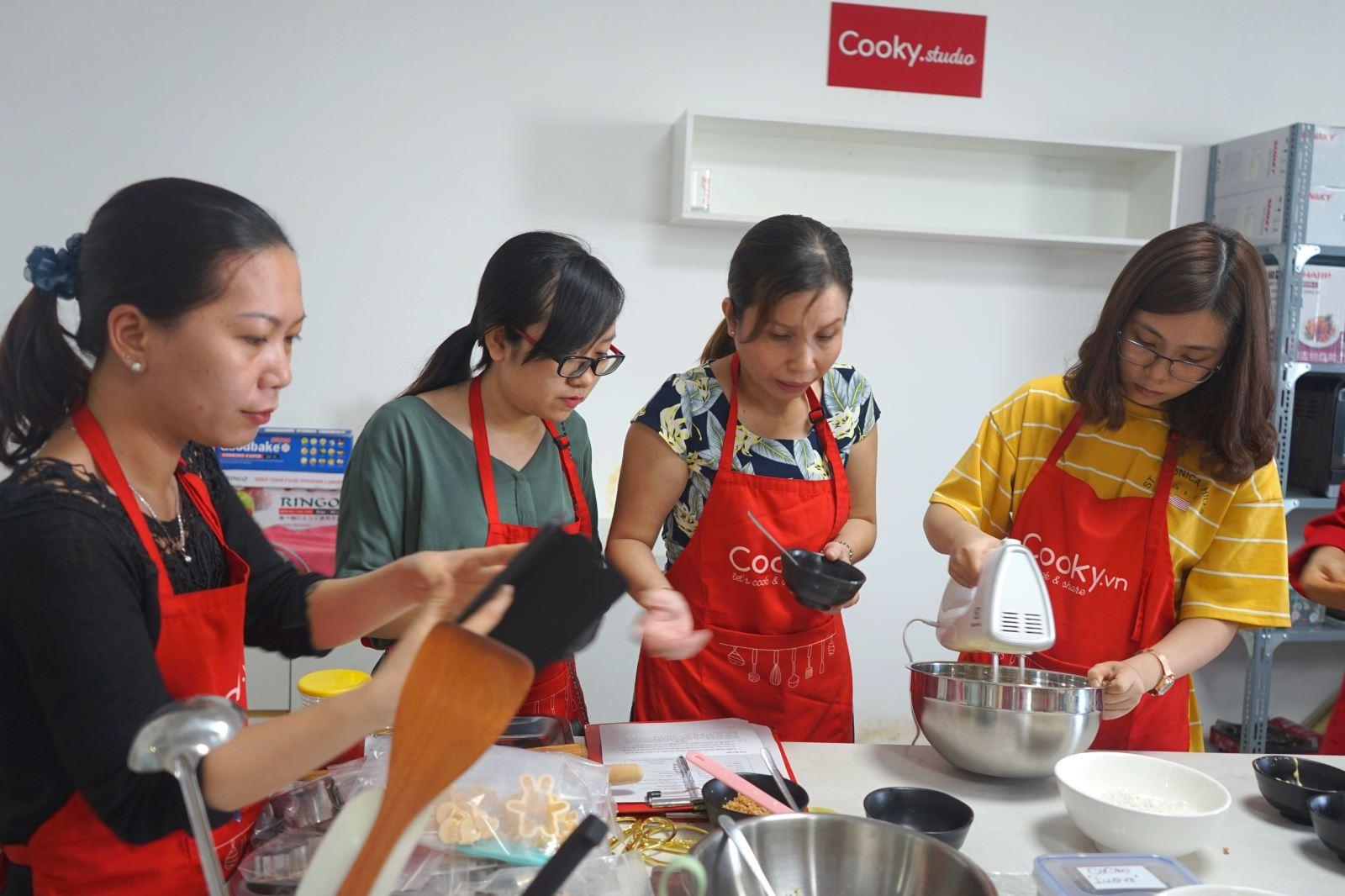 lớp học nấu ăn hoa xôi đậu