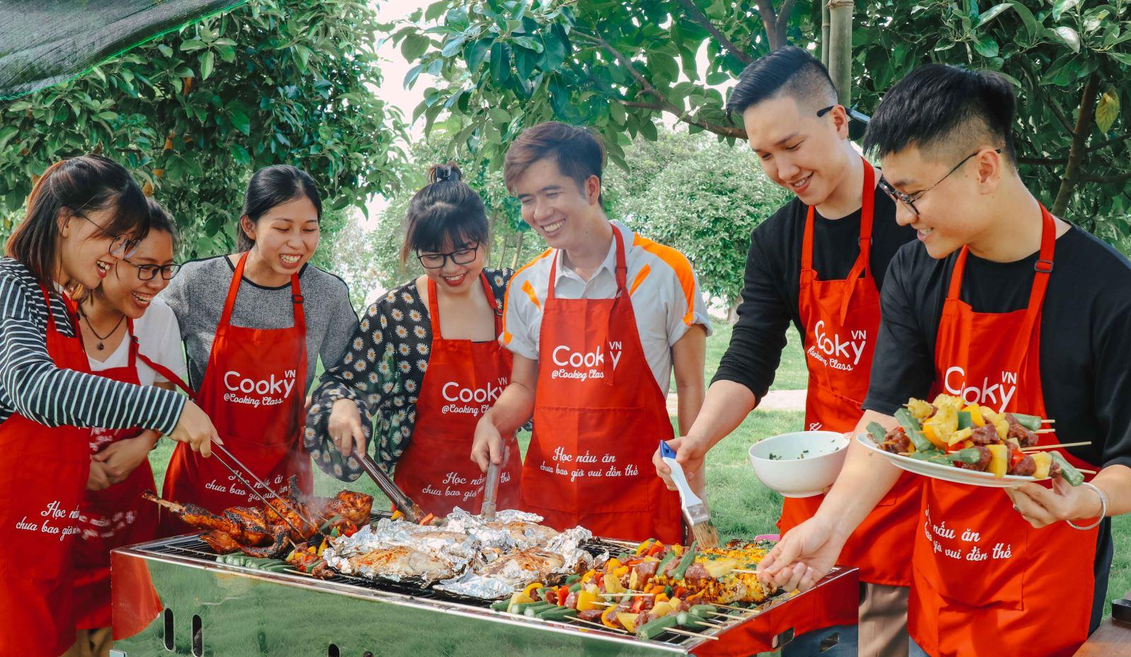 lớp học nấu ăn dã ngoại