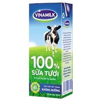 Sữa tươi tiệt trùng 100%  Vinamilk(không đường)