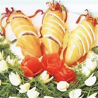 Cách làm mực nhồi tempura