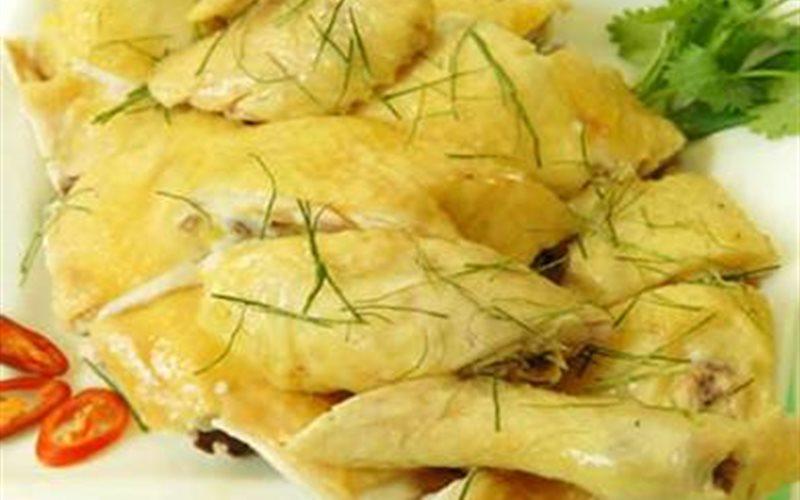 Cách nấu gà trống hấp hải mã