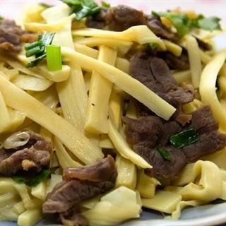 Cách làm thịt bò xào nấm măng