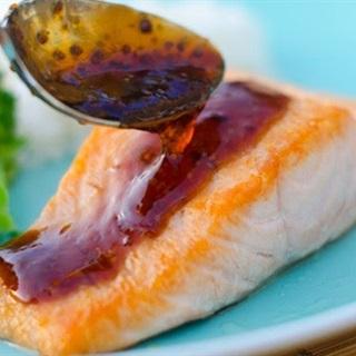 Cách làm Cá Hồi Sốt Xì Dầu Mù Tạt béo mềm, dễ làm tại nhà