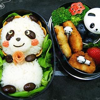 Cách làm cơm nắm hình gấu trúc Panda
