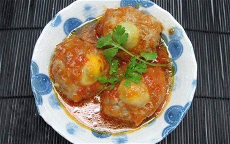 Cách làm Xíu Mại Trứng Cút với sốt cà chua hấp dẫn cho bé