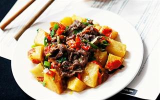 Khoai tây xào thịt bò