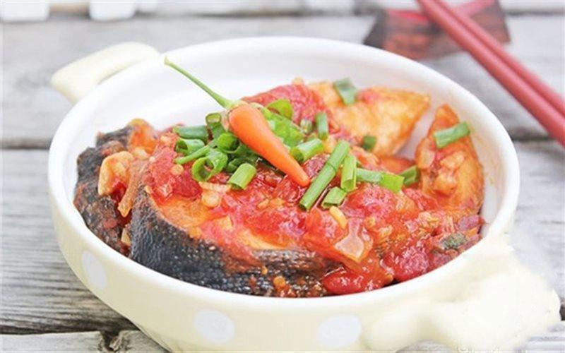 Cách làm cá hồi sốt cà chua
