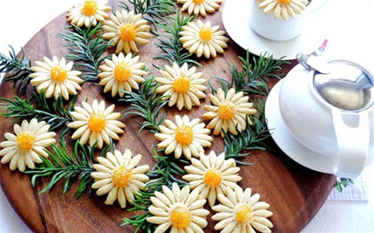 Cách làm bánh quy hình hoa cúc