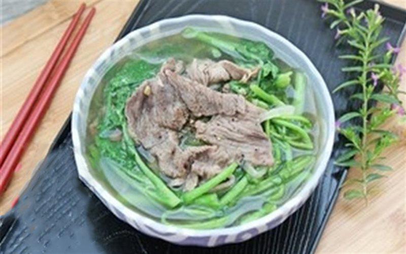 Cách Làm Canh Cải Xoong Thịt Bò Đơn Giản Thơm Ngon