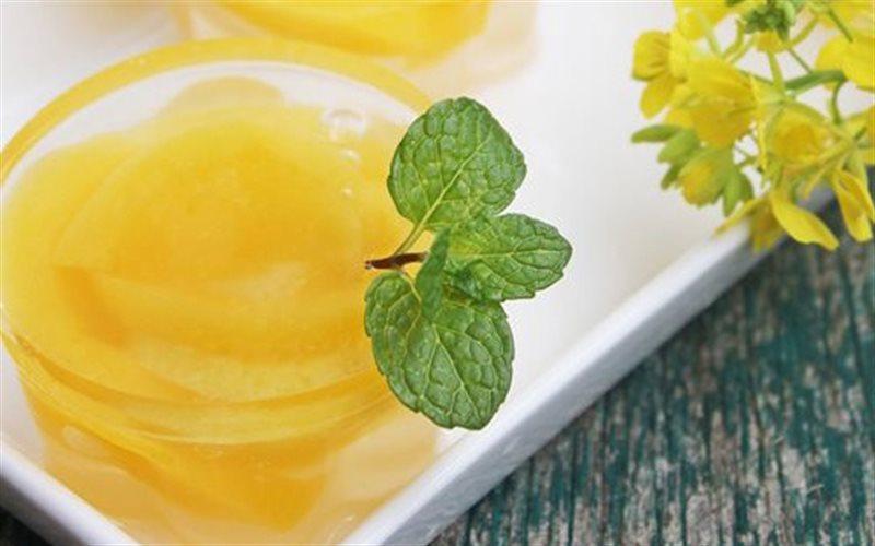 Cách làm Rau Câu Đào ngọt thơm giải nhiệt mùa nắng nóng